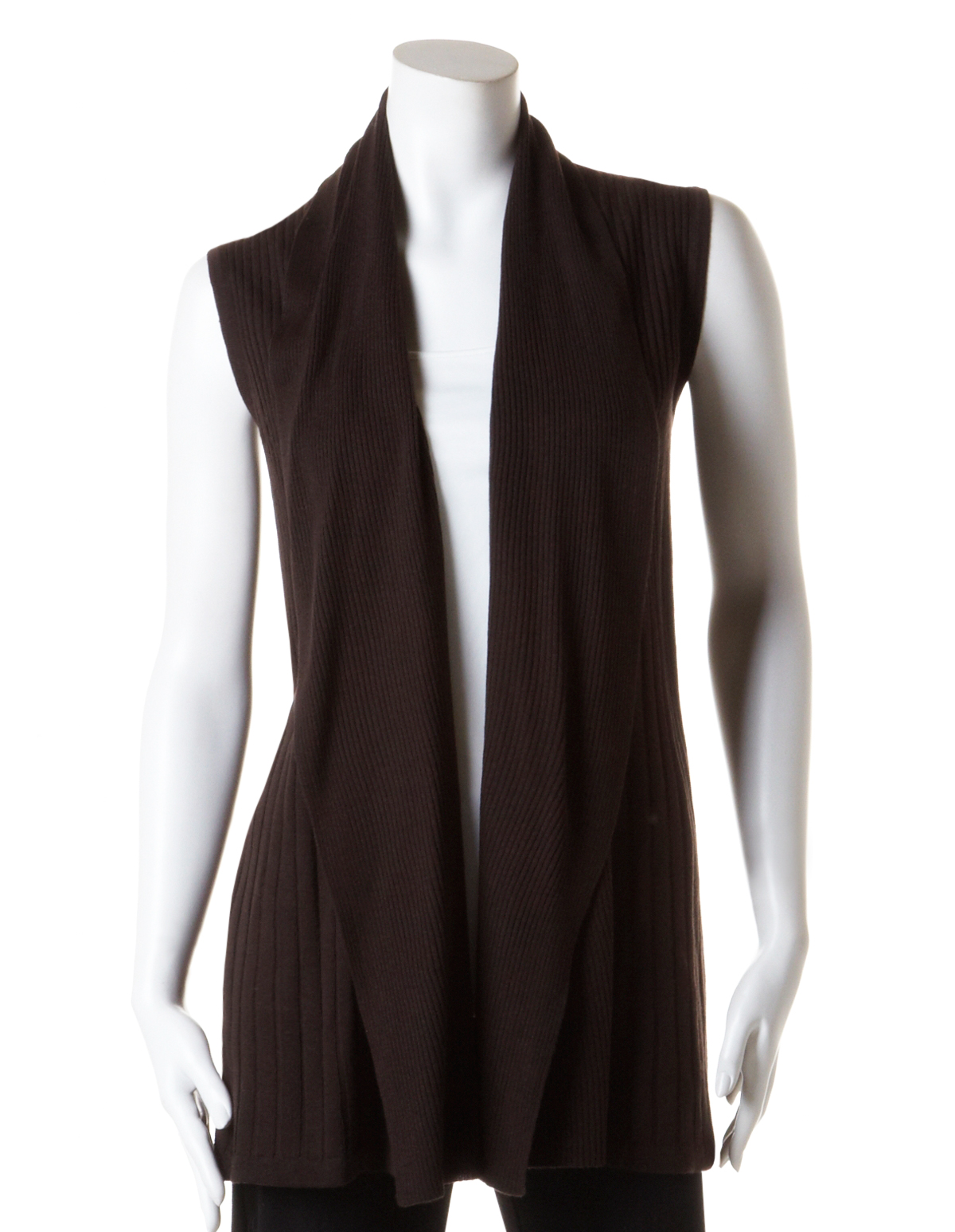 Long Open Drape Sweater Vest | Cleo