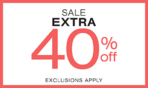 Sale tops, bottoms and blazers extra 40% off