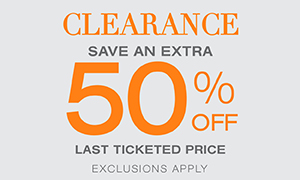 Save extra 50% off Clearance